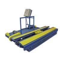 Transbordador automático para automação do transporte de vagonetas